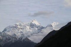 尼泊尔的山脉 图库摄影