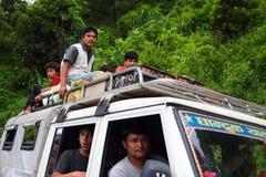 尼泊尔的汽车 库存照片