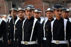 尼泊尔的皇家军队 免版税库存照片