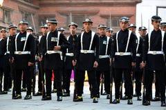 尼泊尔的皇家军队 图库摄影