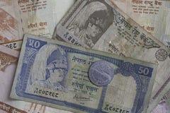 从尼泊尔的金钱 免版税库存图片