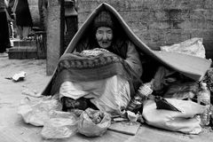 尼泊尔的面孔 免版税图库摄影