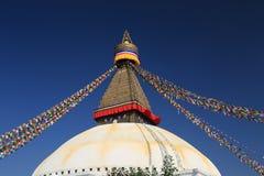 从尼泊尔的Boudhanath stupa 图库摄影