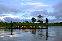 尼泊尔的Chitwan国家公园 库存照片