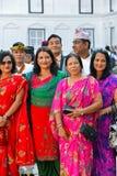 尼泊尔皇家,上层社会成员 库存照片