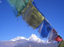 尼泊尔视域 库存照片