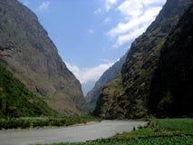 尼泊尔谷 免版税图库摄影