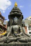 尼泊尔雕象 免版税库存图片