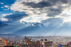 尼泊尔,加德满都谷,多云天 库存图片
