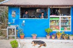 尼泊尔- 2016年12月25日: :山的地方厨房 库存图片