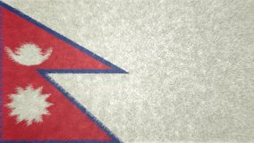 尼泊尔3D的原始的旗子图象 向量例证