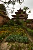 尼泊尔` s加德满都寺庙和庭院 库存图片