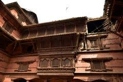 尼泊尔` s加德满都寺庙 免版税图库摄影