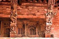 尼泊尔` s加德满都寺庙 图库摄影