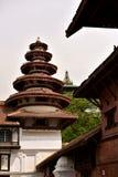 尼泊尔` s加德满都寺庙 免版税库存照片