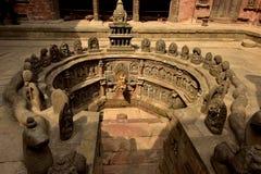 尼泊尔` s加德满都寺庙 库存照片