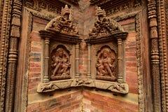 尼泊尔` s加德满都寺庙 库存图片