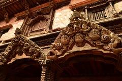 尼泊尔` s加德满都寺庙 免版税库存图片