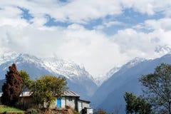 尼泊尔Hamalaya 免版税图库摄影