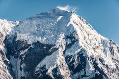 尼泊尔Langtang山断层块 免版税库存照片