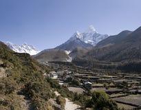 尼泊尔pangboche 库存照片