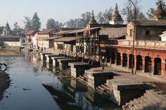 尼泊尔pashupatinath 免版税图库摄影