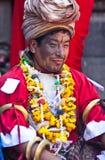 尼泊尔pujari 免版税图库摄影
