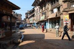 尼泊尔streetscene 库存图片