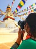 尼泊尔stupa 免版税图库摄影