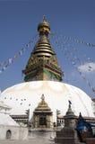 尼泊尔swayambhunath寺庙 免版税库存照片