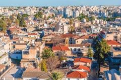 尼科西亚的南部的部分鸟瞰图  塞浦路斯 免版税库存照片
