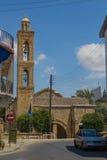 """尼科西亚,塞浦路斯†""""2015年6月22日:古老储的钟楼 图库摄影"""