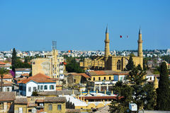 尼科西亚,塞浦路斯全景  库存照片
