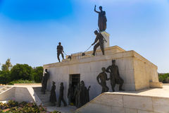 尼科西亚,塞浦路斯- 2014年5月30日:在自由纪念碑的看法是一座纪念碑在市尼科西亚在塞浦路斯 免版税库存照片