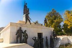尼科西亚,塞浦路斯- 2014年5月30日:在自由纪念碑的看法是一座纪念碑在市尼科西亚在塞浦路斯 图库摄影