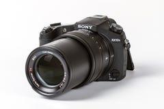 索尼网络射击的DSC-RX10 II, 20 megapixels 免版税库存照片