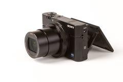 索尼网络射击的DSC-RX100 III, 21 megapixels 免版税库存照片