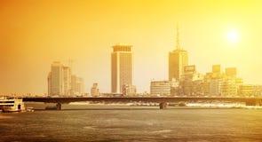 尼罗在城市 免版税库存图片