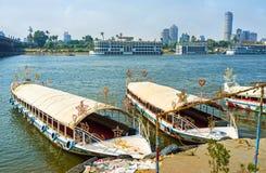 尼罗堤防在开罗 免版税库存照片