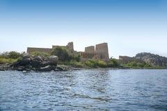 尼罗河和寺庙菲莱 库存照片