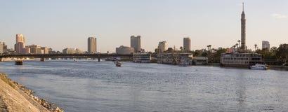 尼罗河和Zamalek海岛 库存照片