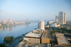 尼罗河在开罗市 免版税库存照片