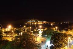 尼罗河在晚上 阿斯旺,埃及 库存图片
