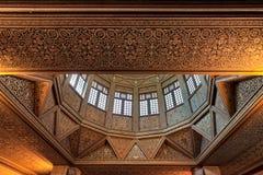 尼罗河水量计大厦天花板,古老埃及水测量设备建于715公元, Rhoda海岛,尼罗省,开罗,埃及 库存图片