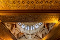 尼罗河水量计大厦,一个古老埃及设备天花板用于测量尼罗,开罗,埃及的水平 免版税图库摄影