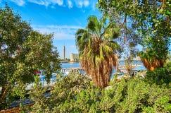 尼罗河的,开罗,埃及庭院 免版税库存照片