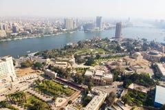 尼罗河看法从开罗塔的 库存图片