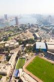 尼罗河看法从开罗塔的 免版税库存照片