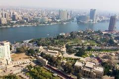 尼罗河看法从开罗塔的 图库摄影