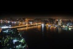 尼罗河鸟瞰图 库存图片